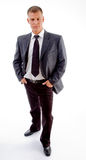 Homem de negócios considerável novo ereto Fotos de Stock Royalty Free