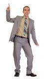 Homem de negócios da dança Fotografia de Stock Royalty Free