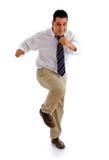 Homem de negócios da dança Fotos de Stock Royalty Free
