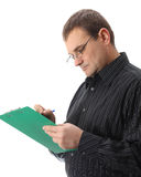Homem de negócios da escrita Foto de Stock Royalty Free