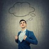 Homem de negócios da nuvem do pensamento Fotografia de Stock Royalty Free