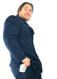 Homem de negócios de engano Fotografia de Stock Royalty Free