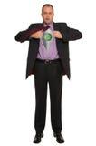 Homem de negócios de ligar/desligar Fotos de Stock Royalty Free