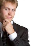 Homem de negócios de pensamento Imagens de Stock Royalty Free
