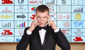 Homem de negócios de pensamento Foto de Stock Royalty Free