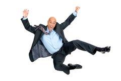 Homem de negócios de salto foto de stock royalty free
