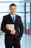 Homem de negócios de sorriso imagem de stock royalty free