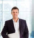 Homem de negócios de sorriso Foto de Stock Royalty Free