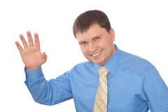 Homem de negócios de sorriso amigável Fotografia de Stock Royalty Free