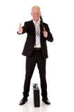 Homem de negócios de sorriso bem sucedido Foto de Stock Royalty Free