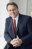 Homem de negócios de sorriso feliz Fotos de Stock