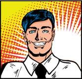 Homem de negócios de sorriso satisfeito Imagens de Stock