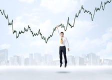 Homem de negócios de suspensão Imagem de Stock Royalty Free