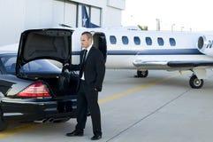 Homem de negócios de viagem Foto de Stock