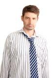 Homem de negócios de vista Tired Fotografia de Stock Royalty Free