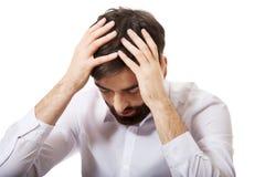 Homem de negócios deprimido novo Foto de Stock