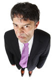 Homem de negócios desagradável com uma atitude Fotografia de Stock Royalty Free