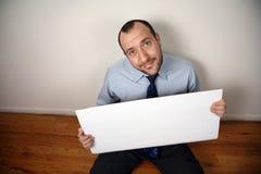 Homem de negócios desempregado Fotografia de Stock Royalty Free