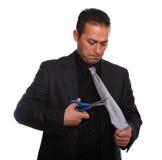 Homem de negócios despedido fotografia de stock