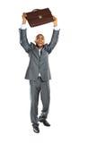 Homem de negócios do africano negro que está guardarando Fotografia de Stock