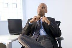 Homem de negócios do americano africano imagem de stock