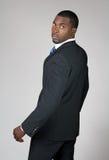 Homem de negócios do americano africano que olha para trás Imagem de Stock Royalty Free
