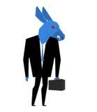 Homem de negócios do asno Metáfora do partido Democrática do Stat unido Fotos de Stock Royalty Free