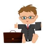 Homem de negócios do bebê Imagens de Stock