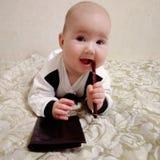 Homem de negócios do bebê fotos de stock royalty free