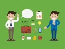 Homem de negócios do caráter, ilustração do vetor Foto de Stock