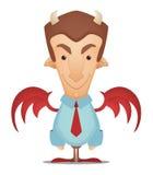 Homem de negócios do diabo Fotos de Stock