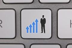 Homem de negócios do gráfico do sucesso Imagem de Stock