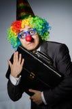 Homem de negócios do palhaço Imagem de Stock Royalty Free