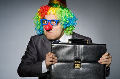 Homem de negócios do palhaço Fotografia de Stock Royalty Free