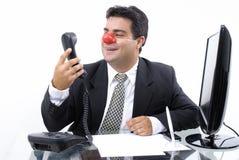 Homem de negócios do palhaço Fotografia de Stock