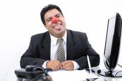 Homem de negócios do palhaço Imagens de Stock