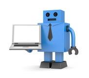 Homem de negócios do robô com caderno ilustração royalty free