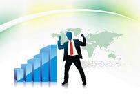 Homem de negócios do sucesso ilustração stock