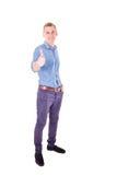 Homem de negócios do sucesso com polegar-acima Imagens de Stock Royalty Free