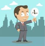 Homem de negócios do sucesso do vencedor Imagens de Stock Royalty Free