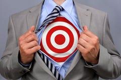 Homem de negócios do super-herói Foto de Stock Royalty Free