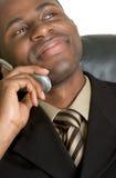 Homem de negócios do telefone Fotografia de Stock Royalty Free