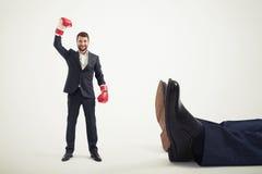 Homem de negócios do vencedor do smiley Fotografia de Stock