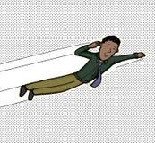 Homem de negócios do voo ilustração stock