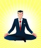 Homem de negócios do zen Imagens de Stock Royalty Free