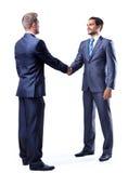 Homem de negócios dois que agita as mãos fotos de stock royalty free
