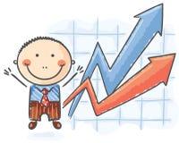 Homem de negócios dos desenhos animados Foto de Stock Royalty Free