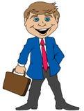 Homem de negócios dos desenhos animados Fotografia de Stock