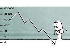 Homem de negócios dos desenhos animados que afrouxa o dinheiro ilustração do vetor