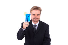 Homem de negócios e álcool Fotografia de Stock